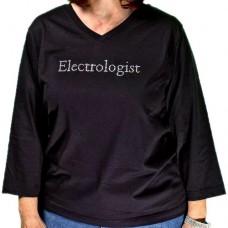 Ladies Rhinestone V-Neck T-Shirt