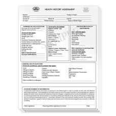 Health History Assessment Pad - Vertical