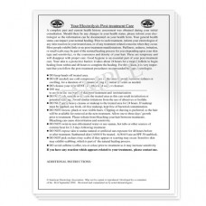 Post Treatment Instruction Pad
